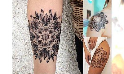 Top 30 pomysłów na tatuaż mandala - galeria ślicznych wzorów dla kobiet