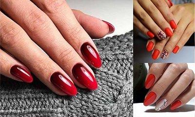 25 pomysłów na czerwony manicure - galeria stylowych zdobień