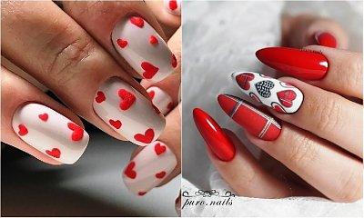 Manicure na walentynki - 25 uroczych wzorów na święto zakochanych
