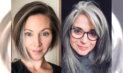 Naturalnie się starzeją i nie wstydzą się swoich SIWYCH włosów! Piękne czy przerażające?