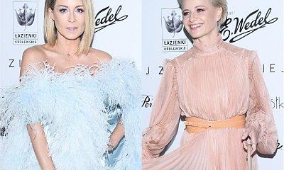 Rozenek i Kożuchowska na jednej imprezie. Obie w anielskich kreacjach i z inaczej ułożonymi włosami. Która wyglądała lepiej?