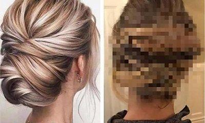 """Fryzjerka spaprała fryzurę ślubną. To miał być elegancki kok, a wyszło """"ptasie gniazdo"""""""