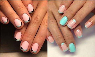 French manicure w nowej odsłonie - kolorowa interpretacja klasycznego zdobienia paznokci
