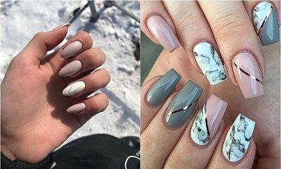 Modny manicure 2019: Marmurkowe paznokcie w nowym wydaniu