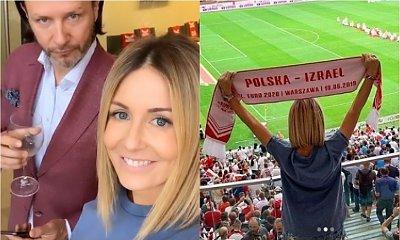 Gosia Rozenek gotowała się w kozakach na meczu Polska - Izrael. Chciała zabłysnąć jak Miss Euro. Udało się?
