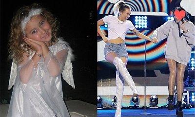 Młodsza siostra Miley Cyrus już nie jest aniołkiem! Nadużywa botoksu, pozuje toples i... pokazuje środkowy palec siedząc na toalecie!