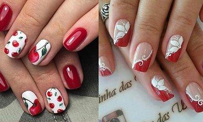 Czerwony manicure - 20 hitowych wzorów na jesień i zimę!