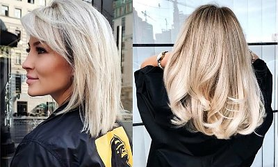 Półdługie fryzury dla blondynek - przegląd najpiękniejszych cięć z sieci