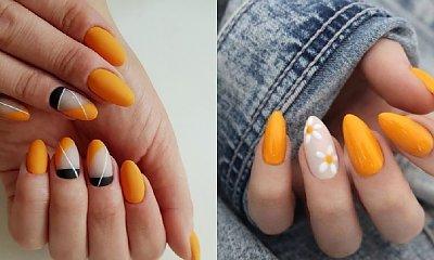 Pomarańczowy manicure - 20 inspiracji w pomarańczowym i łososiowym kolorze