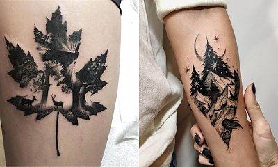 Tatuaż las - 20 magicznych tatuaży z motywem lasu i liści [GALERIA]
