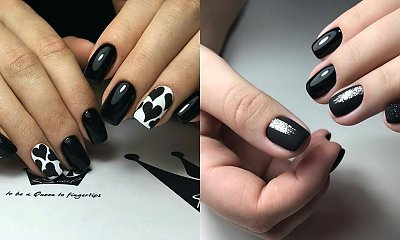 Czarne paznokcie - 20 propozycji na czarny manicure