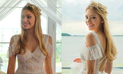 Przyjaciółki: Sesja ślubna Julki w przepięknej sukni ślubnej! A gdy stanęła pod światło... Ups?