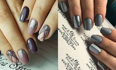 Srebrny manicure - 20 stylizacji ze srebrnymi dodatkami