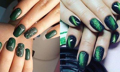 Szmaragdowy manicure - 19 iście królewskich stylizacji [GALERIA]