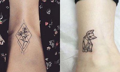 Geometryczne tatuaże - galeria bardzo kobiecych wzorów