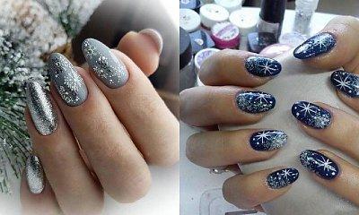 Manicure śnieżynki - 20 propozycji na wzory paznokci w zimowych kolorach [GALERIA]