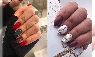 Świąteczny manicure - 20 propozycji na manicure na Święta [GALERIA]