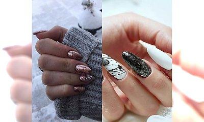 Brokatowe paznokcie - 18 propozycji na karnawałowy manicure [GALERIA]