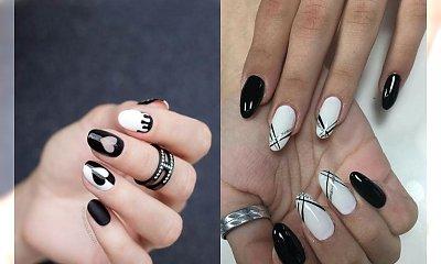 Czarno biały manicure - inspiracje w opcji black&white [GALERIA 2020]