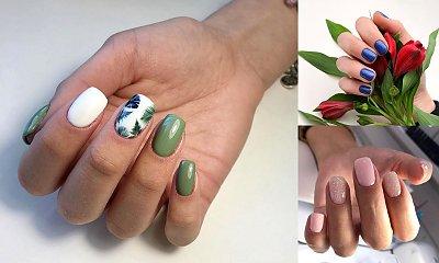 Wiosenny manicure dla krótkich paznokci - 25 najlepszych stylizacji