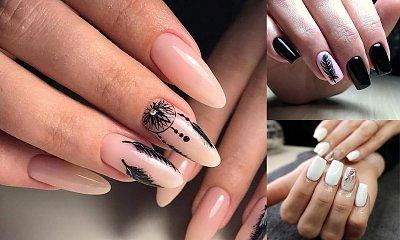 Manicure z piórkiem - 20 przepięknych zdobień