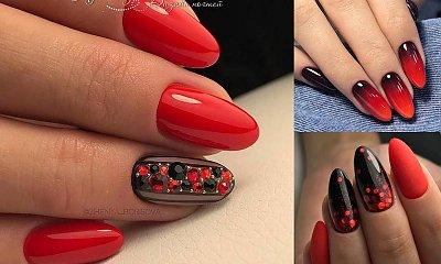 Modny manicure w czerwonych odcieniach - galeria najpiękniejszych zdobień