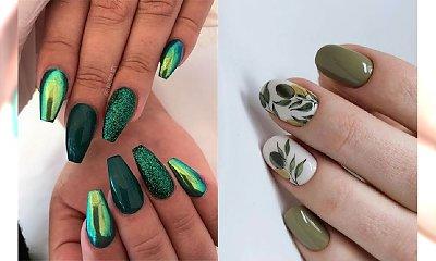 Zielony manicure - 23 pomysły na paznokcie w różnych odcieniach zieleni