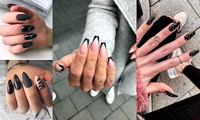 Czarny manicure - 21 fantastycznych stylizacji paznokci