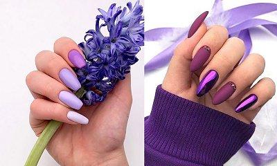 Fioletowy manicure - galeria modnych stylizacji paznokci