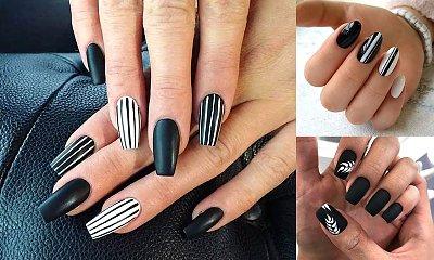 Czarno-biały manicure - 18 nowoczesnych odsłon