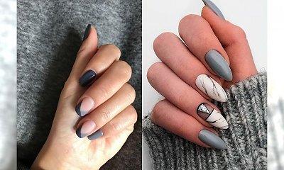 Szary manicure - 17 pomysłów na wyjątkowe, szare paznokcie [GALERIA]