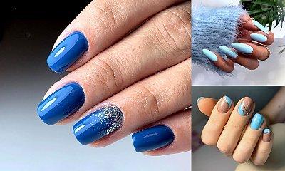 Niebieski manicure - galeria najlepszych pomysłów