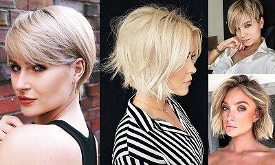 Krótkie cięcia dla blondynek – kilkanaście stylowych propozycji