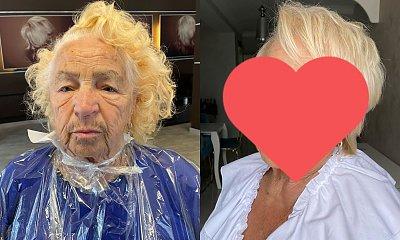 Polska makijażystka zrobiła makijaż 80-letniej babci! Metamorfoza kolosalna: Zachwyt, radość, niedowierzanie