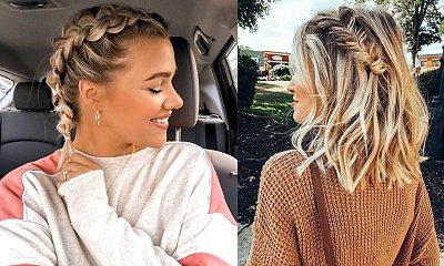 23 modne fryzury z warkoczem dla włosów krótkich i półkrótkich