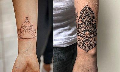 Tatuaż mandala cuff - kilkanaście najciekawszych wzorów na rękę