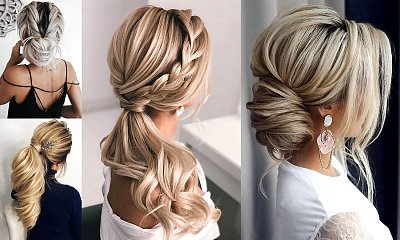17 fryzur na wesele dla włosów półdługich i długich [GALERIA]