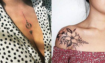 Tatuaż na dekolcie i ramieniu - 15 niezwykle kobiecych wzorów