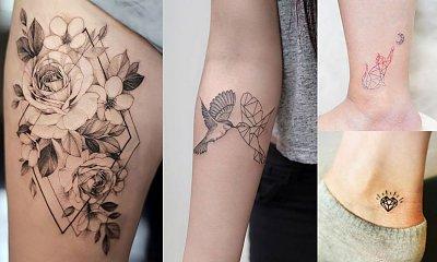 Geometryczne tatuaże - kilkanaście pięknych wzorów dla dziewczyn