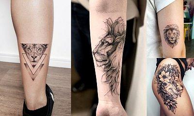 Tatuaże z motywem lwa - 15 przepięknych wzorów dla kobiet