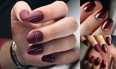 Burgund na paznokciach – postaw na hot trend tej jesieni!