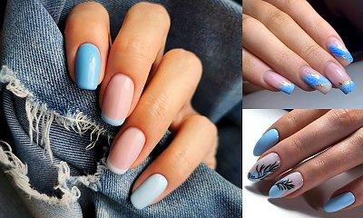 Niebieski manicure - galeria najlepszych propozycji, które robią wrażenie