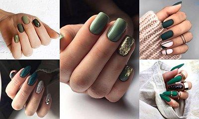 Zielony manicure na jesień - galeria stylowych inspiracji