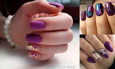 Fioletowy manicure – galeria ultramodnych stylizacji na jesień