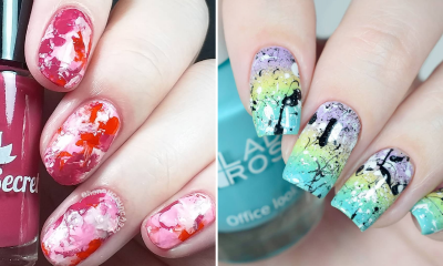 Splatter nails – sposób na dmuchane paznokcie w domu