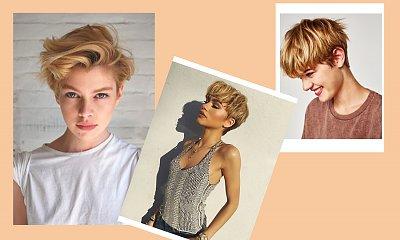 Pixie cut w najmodniejszych odcieniach honey blonde!