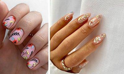 Paznokcie w kwiaty - wiosenne zdobienia manicure