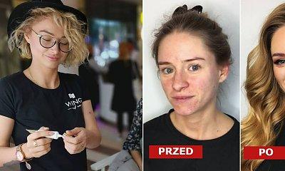 Metamorfozy makijażowe polskiej makijażystki - przed i po. Opadnie ci szczęka!