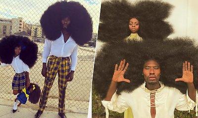 Tata i córka zachwycają bujnymi fryzurami. To nie jest fotomontaż! WOW!