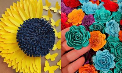 Kwiaty z papieru - 15 inspiracji na prezent na dzień mamy